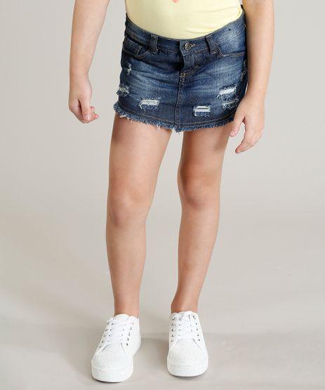 Short-Saia-Jeans-Infantil-Destroyed-com-Bolsos-Azul-Medio-9285285-Azul_Medio_1