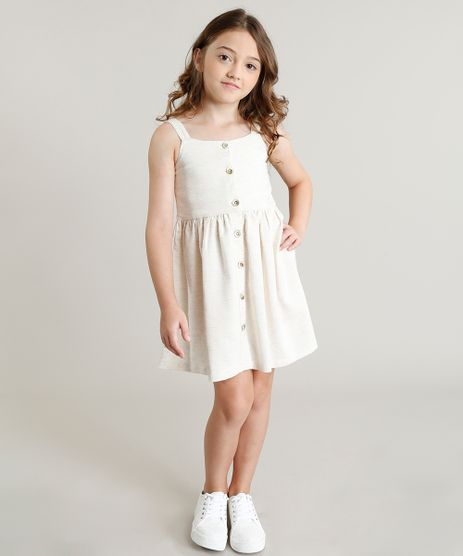 Vestido-Infantil-com-Botoes-Sem-Manga-Bege-Claro-9321236-Bege_Claro_1