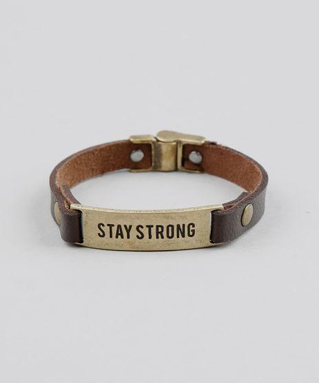 Pulseira-Masculina--Stay-Strong--Marrom-9391963-Marrom_1