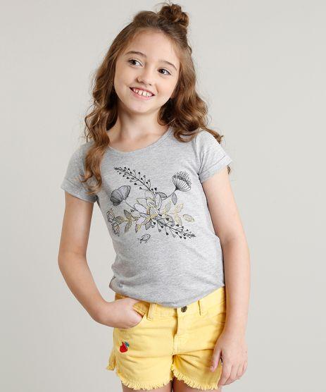 Blusa-Infantil-com-Bordado-Floral-Manga-Curta-Decote-Redondo-Cinza-Mescla-9301012-Cinza_Mescla_1