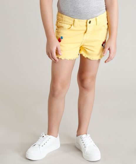 Short-Color-Infantil-Minnie-com-Bordados-Amarelo-9246792-Amarelo_1