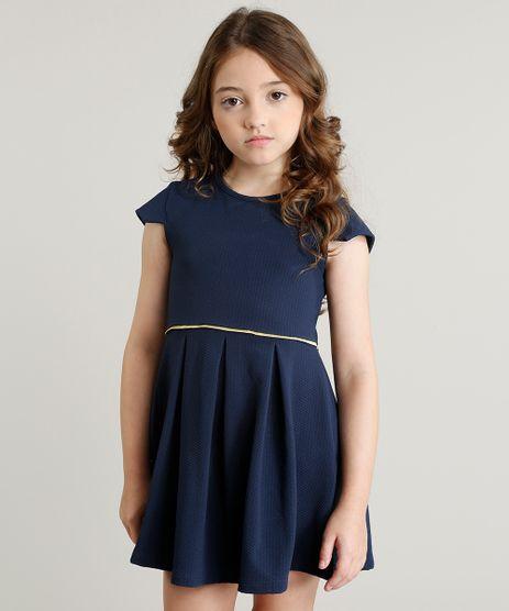 Vestido-Infantil-com-Pregas-Manga-Curta-Azul-Marinho-9337300-Azul_Marinho_1