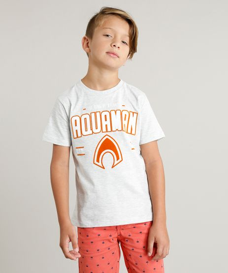 Camiseta-Infantil-Aquaman-Liga-da-Justica-Manga-Curta-Gola-Careca-Cinza-Mescla-Claro-9328795-Cinza_Mescla_Claro_1