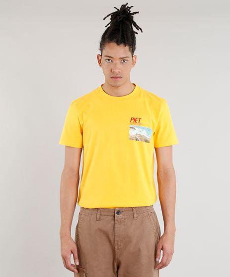 Camiseta-Masculina-Piet-Marcelo-D2-A-E-P-O-F-Manga-Curta-Gola-Careca-Amarela-9343536-Amarelo_1