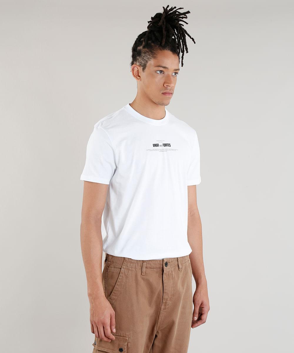 Camiseta Masculina A.E.P.O.F. + C A by Pedro Andrade Amar é para os ... f80d9bee28e