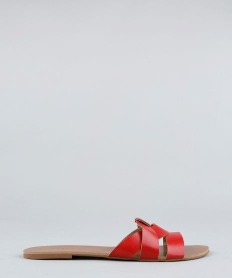 Rasteira-Feminina-com-Tiras-Cruzadas-Vermelha-9416615-Vermelho_1