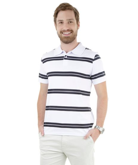 49f7be5ec2 Polo-Listrada-Branca-8276880-Branco 1