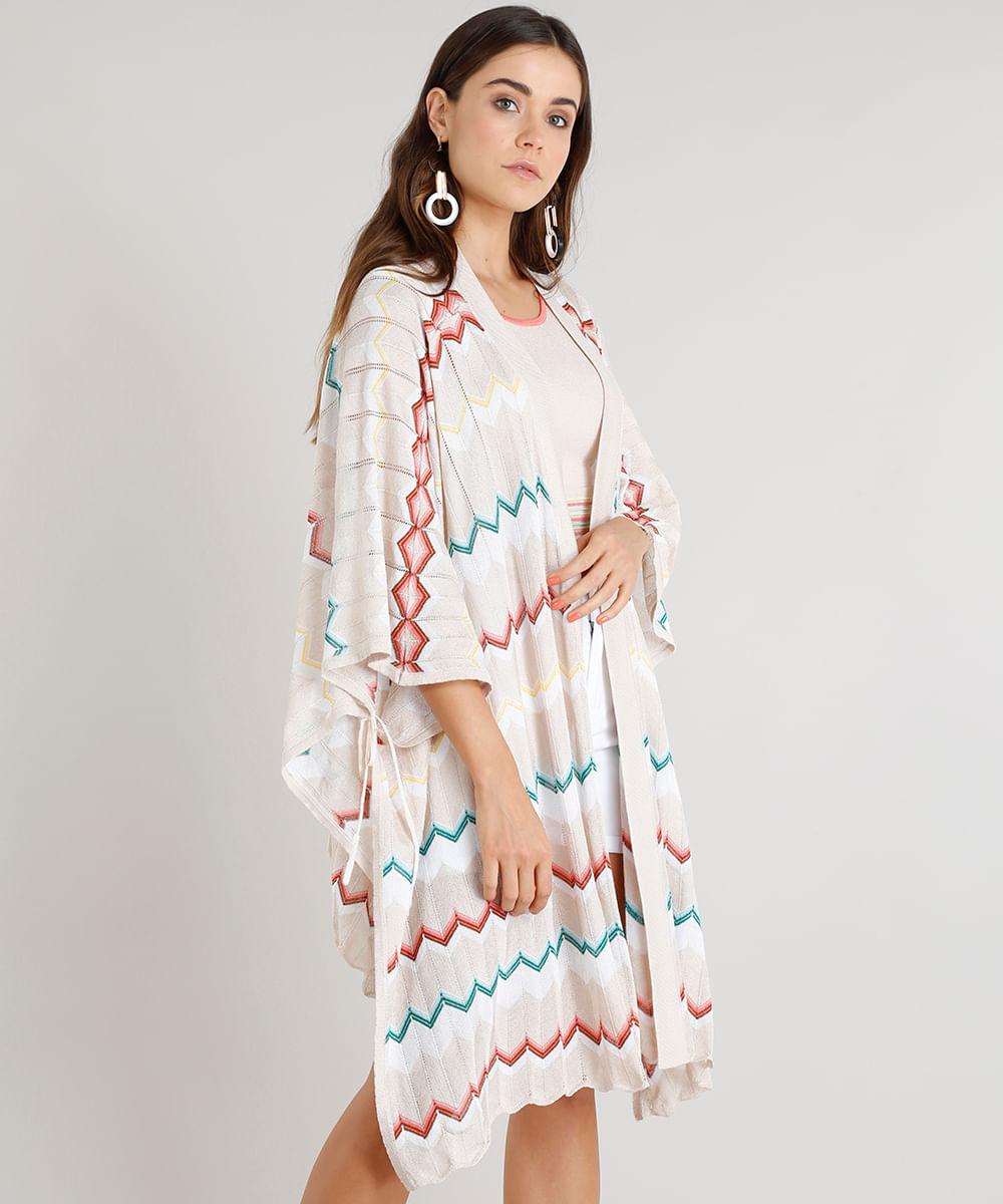 Kimono-Feminino-Missoni-em-Trico-Estampado-Chevron-Manga-Longa-Bege-9267925-Bege_1