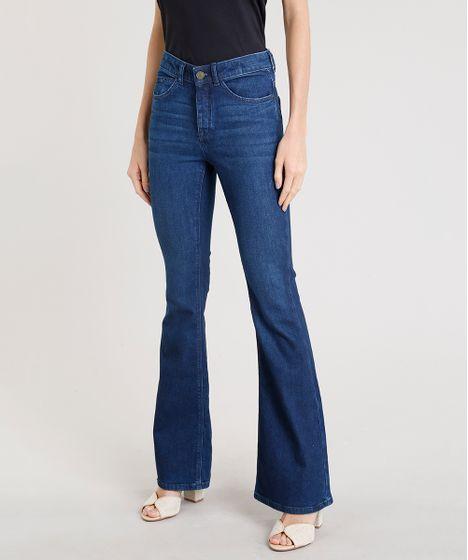 5073d1d14 Calca-Jeans-Feminina-Flare-C2C-Azul-Escuro-9241733- ...