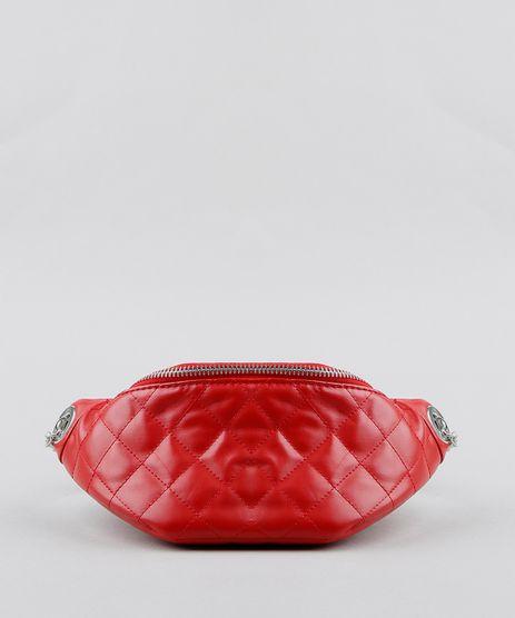 Pochete-Feminina-Matelasse-com-Corrente-e-Ilhos-Vermelha-9250680-Vermelho_1