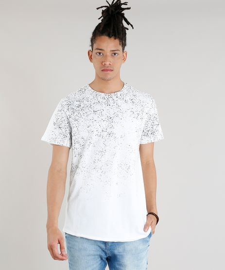 Camiseta-Masculina-Longa-com-Respingos-Manga-Curta-Gola-Careca-Off-White-8449731-Off_White_1