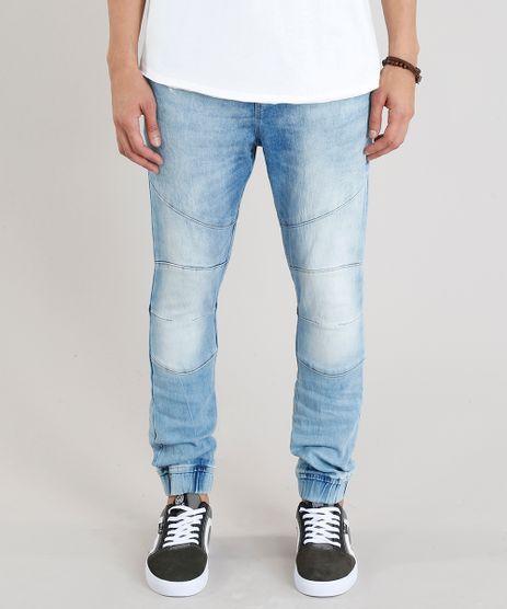 7b512194a7 Calca-Jeans-Masculina-Jogger-Azul-Claro-9166447-Azul Claro 1