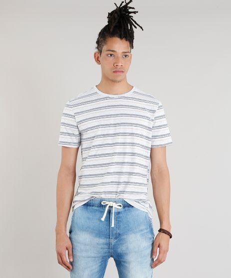 Camiseta-Masculina-Basica-Listrada-Manga-Curta-Gola-Careca-Cinza-Mescla-Claro-9286455-Cinza_Mescla_Claro_1