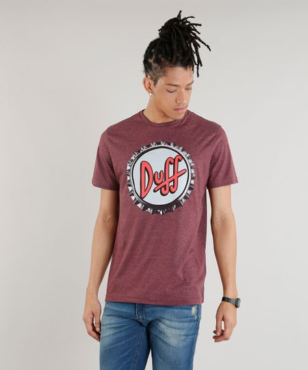 51692543d Menor preço em Camiseta Masculina Duff Beer Os Simpsons Manga Curta Gola  Careca Vinho