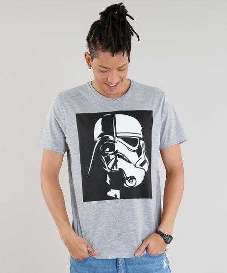 Camiseta-Masculina-Darth-Vader-Stormtrooper-Manga-Curta-Gola-Careca-Cinza-Mescla-9261239-Cinza_Mescla_1