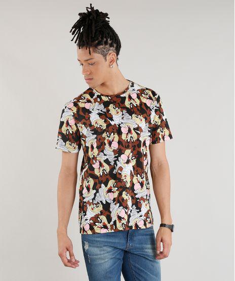 Camiseta-Masculina-Estampada-Taz-Manga-Curta-Gola-Careca-Preta-9277740-Preto_1