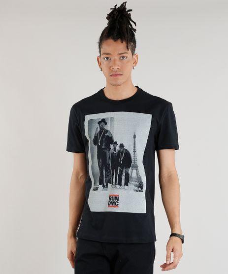 Camiseta-Masculina-Run-DMC-Manga-Curta-Gola-Careca-Preta-9307575-Preto_1