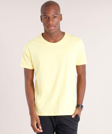 Camiseta-Masculina-Basica-Manga-Curta-Gola-Careca-Amarelo-Claro-8472858-Amarelo_Claro_1