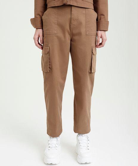 Calca-Feminina-Cintura-Alta-Mom-Pants-Cargo-Kaki-9250598-Kaki_1