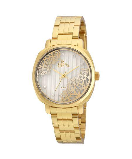 Kit Relógio Allora Feminino Listras e Rendas AL2035FGI K4K - Dourado - cea d5b785a9a9