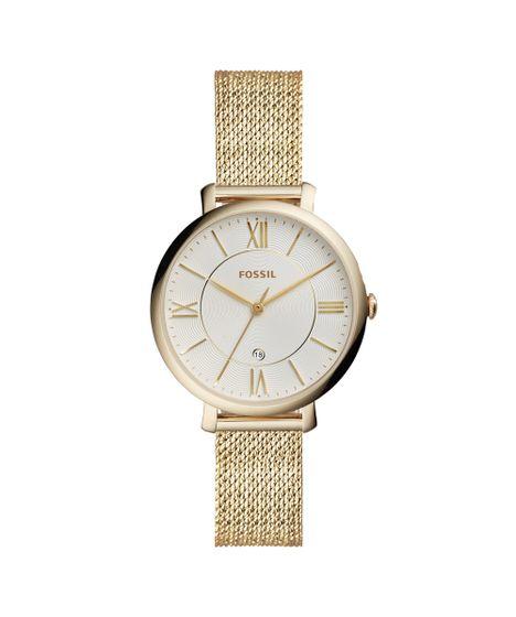 50b96aa8b1fa1 Relógio Fossil Feminino Ladies Jacqueline Dourado - ES4353 1TN - cea