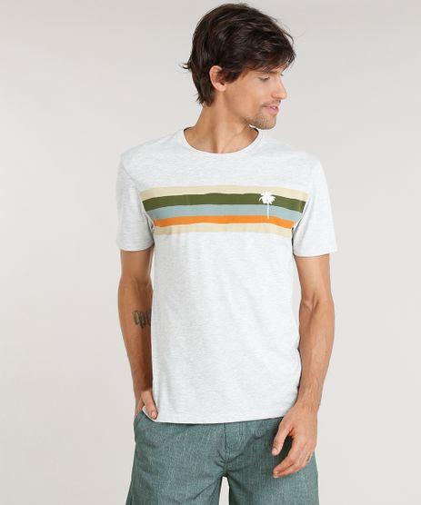 Camiseta-Masculina-Agua-de-Coco-com-Estampa-Listrada-Manga-Curta-Gola-Careca-Cinza-Mescla-Claro-9282780-Cinza_Mescla_Claro_1
