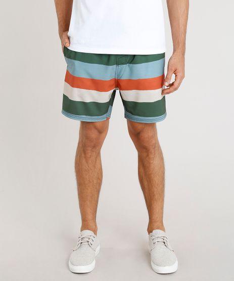 Short-Masculino-Agua-de-Coco-Listrado-com-Bolsos-Verde-Escuro-9255098-Verde_Escuro_1