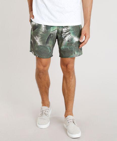 Short-Masculino-Agua-de-Coco-Estampado-Palmeira-com-Bolsos-Verde-Escuro-9255097-Verde_Escuro_1