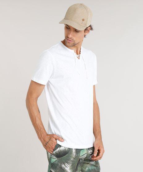 Camiseta-Masculina-Agua-de-Coco-com-Amarracao-Manga-Curta-Gola-Careca-Branca-9344821-Branco_1
