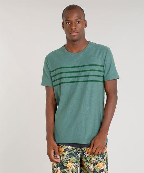 Camiseta-Masculina-Blueman-com-Estampa-Listrada-Manga-Curta-Gola-Careca-Verde-9282659-Verde_1