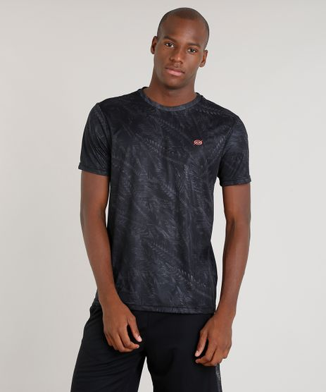 Camiseta-Masculina-Blueman-Esportiva-Estampada-de-Folhagens-Manga-Curta-Gola-Careca-Preta-9308252-Preto_1