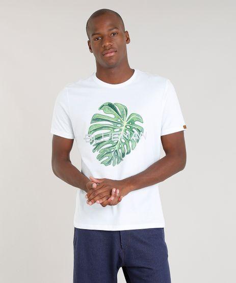 Camiseta-Masculina-Blueman-com-Estampa-Folha-Manga-Curta-Gola-Careca-Branca-9344820-Branco_1