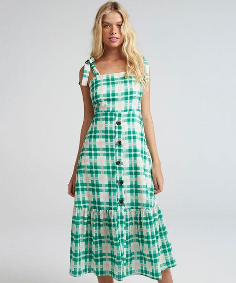 Vestido-Midi-Xadrez-com-Alcas-Verde-9258512-Verde_1