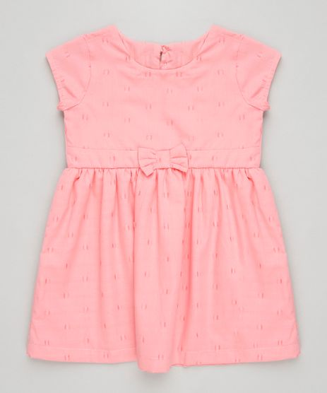 Vestido-Infantil-com-Laco-e-Estrela-Vazada-Manga-Curta-Decote-Redondo-Rosa-9245118-Rosa_1