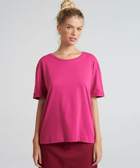T-Shirt-Feminina-Oversized-Mindset-Manga-Curta-Pink-9394895-Pink_1