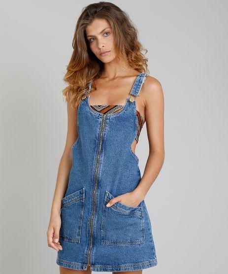 Salopete-Jeans-Feminina-Blueman-com-Ziper-de-Argola-Azul-Medio-9331769-Azul_Medio_1