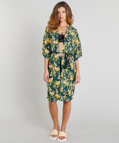 Kimono-Feminino-Blueman-Estampado-Banana-com-Tassel-Preto-9254687-Preto_1