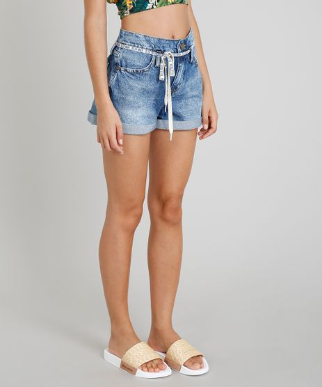 Short-Jeans-Vintage-Feminino-Blueman-com-Cadarco-Azul-Medio-9331766-Azul_Medio_1