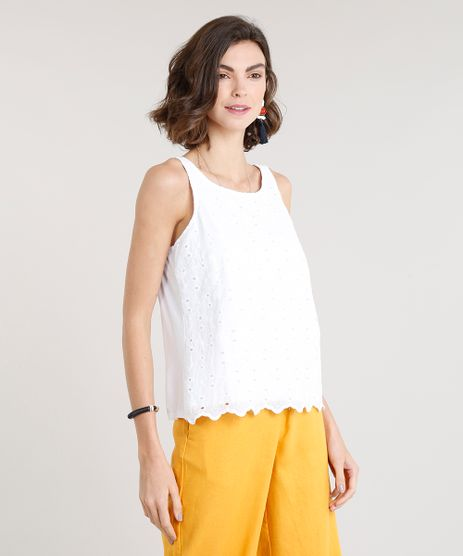 Regata-Feminina-com-Laise-Decote-Redondo-Branca-9273504-Branco_1