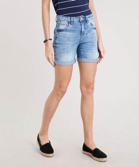 Bermuda-Jeans-Feminina-com-Barra-Dobrada-Azul-Claro-9362133-Azul_Claro_1