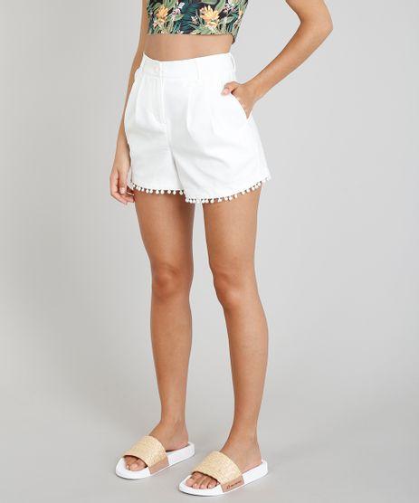 Short-de-Alfaiataria-Feminino-Blueman-com-Pompom-Off-White-9265743-Off_White_1
