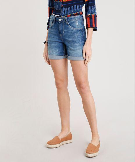 Bermuda-Jeans-Feminina-com-Barra-Dobrada-Azul-Escuro-9362134-Azul_Escuro_1