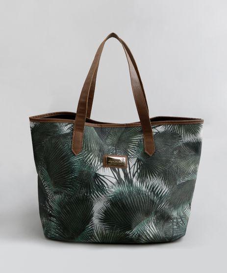 Bolsa-de-Praia-Agua-de-Coco-Shopper-em-Lona-Estampada-Palmeira-Verde-Escuro-9341751-Verde_Escuro_1