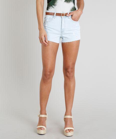 Short-Jeans-Feminino-Agua-de-Coco-Vintage-com-Cinto-de-Coqueiros-Azul-Claro-9331756-Azul_Claro_1