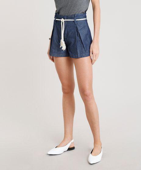 Short-Jeans-Feminino-Clochard-com-Cinto-Corda-Azul-Escuro-9365647-Azul_Escuro_1
