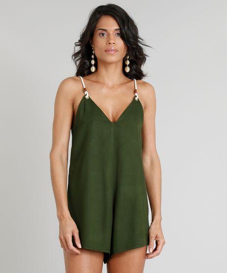 Macaquinho-Feminino-Agua-de-Coco-Decote-V-Verde-Escuro-9331759-Verde_Escuro_1