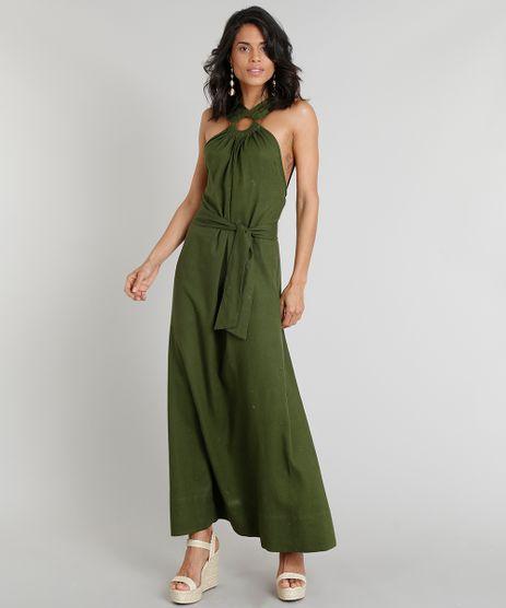 Vestido-Longo-Feminino-Agua-de-Coco-com-Argola-em-Linho-Bordado-de-Coqueiros-Verde-Escuro-9254203-Verde_Escuro_1