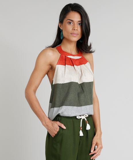 Regata-Feminina-Halter-Neck-Agua-de-Coco-Listrada-Verde-Escuro-9254210-Verde_Escuro_1