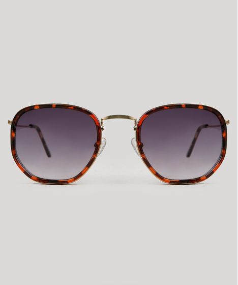 172339c10db7d Óculos de Sol Água de Coco Quadrado Feminino Tartaruga - cea