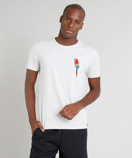 Camiseta-Masculina-Blueman-Arara-Manga-Curta-Gola-Careca-Cinza-Mescla-Claro-9282656-Cinza_Mescla_Claro_1